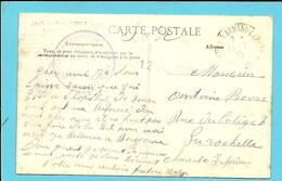 Kaart Met Stempel HOPITAL COMPLEMENTAIRE N° 6  / ANNEXE ROUEN Op 12/7/1915 - WW I