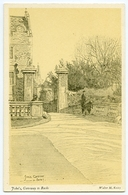 ARTIST : WALTER KEESEY - CAMBRIDGE : JOHN'S, GATEWAY TO BACKS - 1900-1949