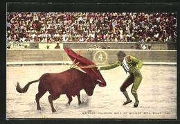 AK Mexiko, Matador Engaging Bull, Stierkampf - Stierkampf