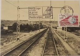L) 1967 FRANCE, TRAINS, RAILROAD TRACKS, CONGRESS INTERNATIONAL CHEMINS DE FER, WORLD, XF - 1960-69