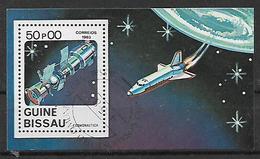 GUINEA BISSAU 1983  GIORNATA DELL'ASTRONAUTICA YVERT. BF 37 USATO VF - Guinea-Bissau