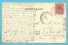 Kaart  Vanuit TILBURG Naar ARMEE BELGE , Stempel PMB Op 26/9/15 - WW I