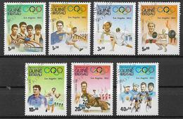 GUINEA BISSAU 1983  ANNO PREOLIMPICO YVERT. 208-214 USATA VF - Guinea-Bissau