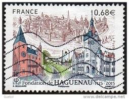 Oblitération Moderne Sur Timbre De France N° 4969 - Fondation De Haguenau. Eglises Saint Georges Et Saint Nicolas - Francia
