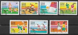 GUINEA BISSAU 1984 GIOCHI OLIMPICI A LOS ANGELES YVERT. 282-288 USATA VF - Guinea-Bissau