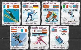 GUINEA BISSAU 1984 GIOCHI OLIMPICI D'INVERNO A SARAJEVO YVERT. 252-258 USATA VF - Guinea-Bissau