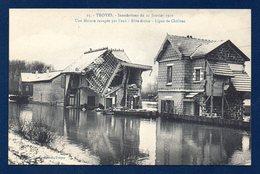 10. Troyes. Inondations Du 22 Janvier 1910. Une Maison Ravagée Par L'eau. Rive Droite. Ligne De Châlons - Troyes