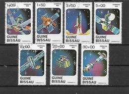 GUINEA BISSAU 1983 GIORNATA DELL'ASTRONAUTICA YVERT. 187-193 USATA VF - Guinea-Bissau