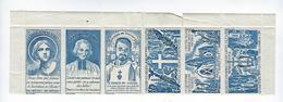 Carnet De 6 Vignettes Curé D'Ars Jeanne D'Arc Père De Foucault Relève Missionnaire Prêtres Patriotique - Vignettes De Fantaisie
