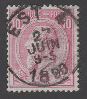 """COB N° 46 - Amblt. EST 4 - Oblitération """"CONCOURS"""" - 1884-1891 Leopold II"""