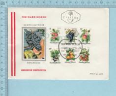 Autriche , Austria - Flame Cachet: Heimische Obstsorten, 6 Stamps 1966, Frei Marken Serie - FDC