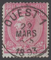 COB N° 46 - Amblt. OUEST 1 - Timbre D'Attente - 1884-1891 Leopold II