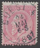 """COB N° 46 - Amblt. OUEST 4 - Oblitération """"CONCOURS"""" - 1884-1891 Leopold II"""