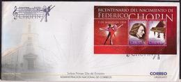 Uruguay - FDC - 2010 - Bicentenaire De La Naissance De Federico Chopin - Musique - Piano - Ballet - Musica