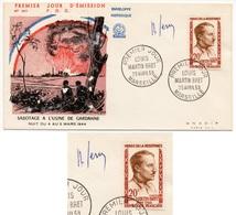 FDC  FRANCE 1959 - Héros De La Résistance Louis Martin Bret YT 1201 Signé Raoul Serres (dessinateur) (Réf 18-480) - FDC