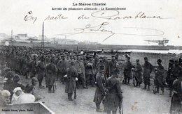 Guerre 1914 -18 : MAROC, Arrivée Des Prisonniers Allemands, Le Rassemblement - Guerra 1914-18
