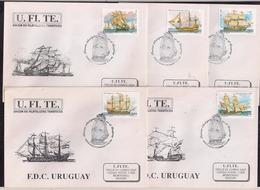 Uruguay - FDC - 1996 - Grands Voiliers - Bateaux Anciens - Bateaux - Ships