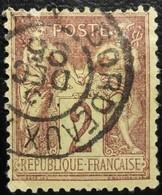 France N°85 Sage 2c Brun-rouge Oblitéré T15  Bordeaux - 1876-1898 Sage (Type II)