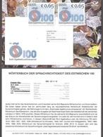 Dictionary Of Standard Estonian 100 2018 Estonia Stamp Presentation Card (germ) Mi 940 - Langues