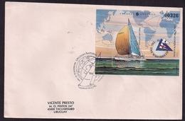 Uruguay - Lettre - 1993 - Whitbread Tour Du Monde 1993-94 - Vela