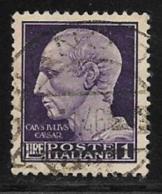 Italy Scott # 452A Used Julius Caesar, 1945, Redrawn - 5. 1944-46 Lieutenance & Umberto II