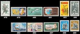Canada (Scott No. 478-89  - 1968 Stamps) [**] - Unused Stamps