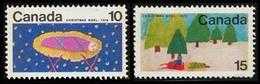 Canada (Scott No. 529-30pw - Noel / 1970 / Christmas) [**] Phosphore - Noël