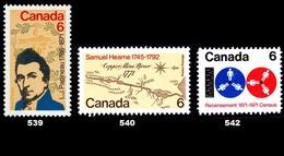 Canada (Scott No. 539-40-42 -1971 Stamps) [**] - Neufs