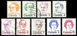 Canada (Scott No. 586-93A - Caricature) (o) Série / Set - 1952-.... Règne D'Elizabeth II