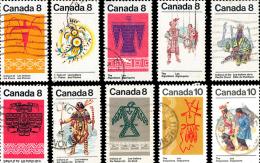 Canada (Scott No. 562-81 - Indiens / Indians) (o) Série /Complet / Set - 1952-.... Règne D'Elizabeth II