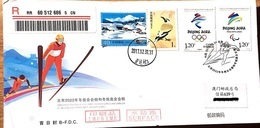 China 2017-31 Emble Of BeiJing 2022 Olympic Winter Game And 2022 Paralympic Winter Game 2v B.FDC First Day Entire Cover - Winter 2022: Beijing