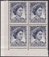 Australia 1959 Type I & II  SG 314a Mint Never Hinged - Nuevos