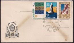 Uruguay - 1964 -  FDC - Pro Salut Des Monuments Nubiens - Uruguay