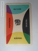 ZA138.18 Hungary   Pocket Calendar KÉPCSARNOK  1961 - Calendriers