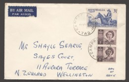 1949  UPU &5th Anniv. Added Pair Of  Princess Elizabeth 1d SG 222 Air Mail To New Zealand - FDC