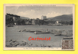 CPA 66 BANYULS Sur MER Le Petit Port Et Les Villas 1931 ( Peu Commune ) - Banyuls Sur Mer