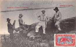 Congo Français . N° 51092 . Chasse A L Elephant . Belle Affranchissement - Congo Français - Autres