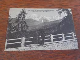 CPA  ROUTE DE SALLANCHES COMBLOUX MEGEVE PANORAMA SUR LE MONT BLANC  VOYAGEE TIMBREE 1923 - France