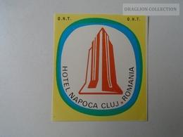 ZA138.38 Vintage Luggage Label  - Hotel Label - Hotel Napoca -Cluj Romania - Hotel Labels