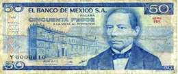 MEXIQUE - 50 Pesos 27 Janvier 1981 - Série HK - Y 6008810 - P.73 - Circulé - Mexique