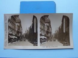 CAEN : La Rue St. JEAN : S. 220 - 4493 ( Maison De La Bonne Presse VUES De FRANCE ) Stereo Photo - Stereoscopic