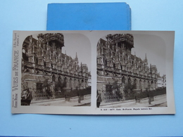 CAEN : St. PIERRE Façade Latérale Est : S. 219 - 4477 ( Maison De La Bonne Presse VUES De FRANCE ) Stereo Photo - Stereoscopic