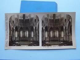 CAEN : St. PIERRE Le Choeur : S. 219 - 4475 ( Maison De La Bonne Presse VUES De FRANCE ) Stereo Photo - Stereoscopic