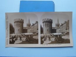 CAEN : La Tour Près Du Marché : S. 219 - 4482 ( Maison De La Bonne Presse VUES De FRANCE ) Stereo Photo - Stereoscopic