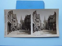 CAEN : La Rue St. Pierre : S. 219 - 4479 ( Maison De La Bonne Presse VUES De FRANCE ) Stereo Photo - Stereoscopic