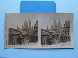 CAEN : St. Etienne. Vue Sur L'Abside : S. 221 - 4496 ( Maison De La Bonne Presse VUES De FRANCE ) Stereo Photo - Stereoscopic