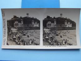 GRANVILLE : La Plage Et Le Casino : S. 206 - 4288 ( Maison De La Bonne Presse VUES De FRANCE ) Stereo Photo - Stereoscopic