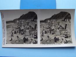 GRANVILLE : Vue Sur La Plage : S. 206 - 4290 ( Maison De La Bonne Presse VUES De FRANCE ) Stereo Photo - Stereoscopic