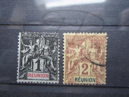 VEND BEAUX TIMBRES DE LA REUNION N° 32 + 33 !!! - Réunion (1852-1975)