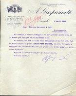169 ZURICH 1910 , A. GASPARINETTI , COMESTIBLES VOLAILLES OEUFS CONSERVES VINS FRUITS. LETTERA INTESTATA - Svizzera